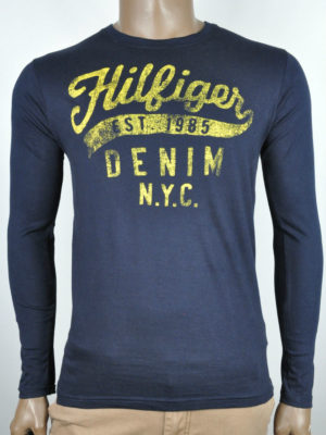 Tommy Hilfiger Jeans Long Sleeve T-Shirt - Navy