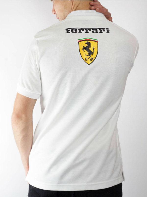 Men White Polo Shirt