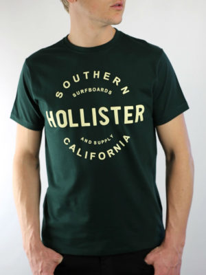 Hollister California Graphic Green T-Shirt