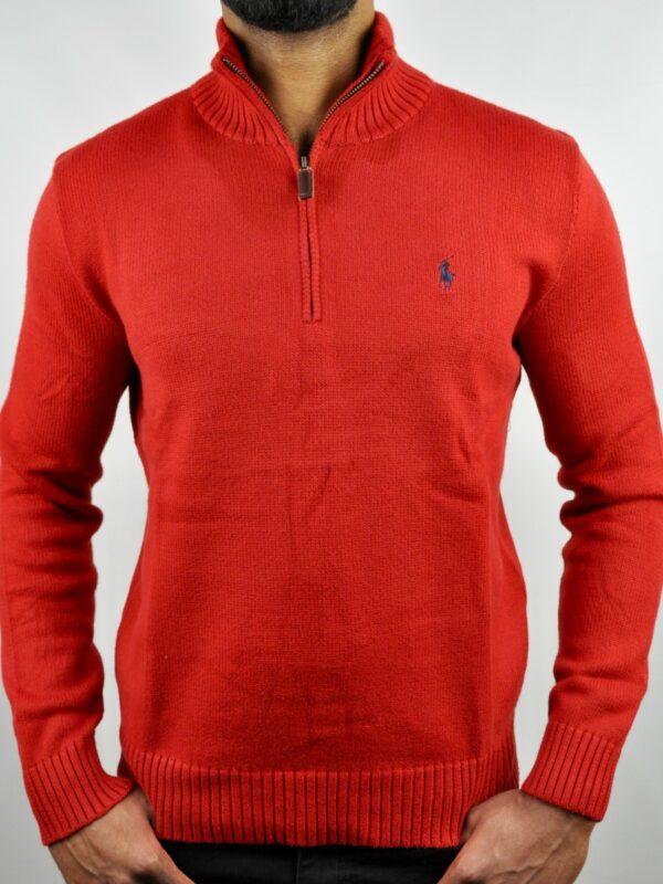 Ralph Lauren Half Zip Sweater Red